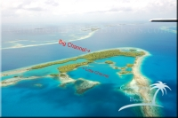 Little Channel and Big Channel Cayes are islands for sale.