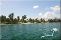 calm waters behind the reef