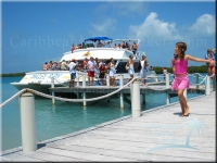 a cruise tender and snorkel tour