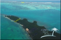 Eastern point of Cross Caye with reef