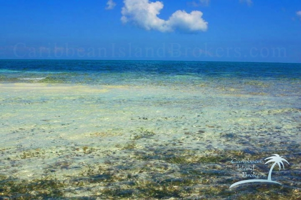 Looking NE from the shore of Cross Caye