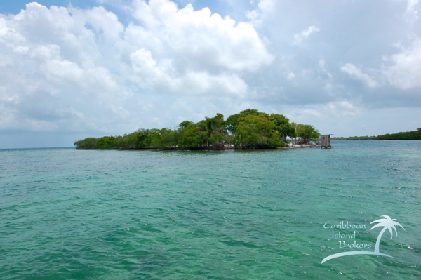 The south point of Sunset Caye