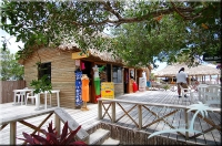 There are 2 gift shops on the island