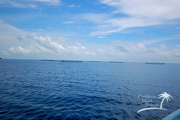 An aquaculture operation is about a quarter mile to the south east